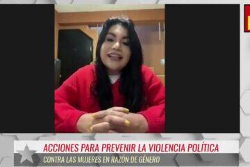 La violencia política debemos erradicarla: Brenda Fraga