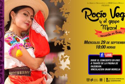 Rocío Vega y el Grupo Mezcal presentarán concierto a distancia para UNAM Morelia