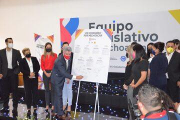 """Firma PRI Agenda de """"Un Congreso  por Michoacán"""""""