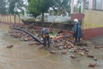 Tromba causa varios daños, en Chilchota