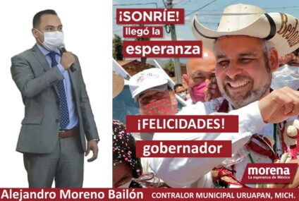 Contralor municipal felicita al gobernador Alfredo Ramírez